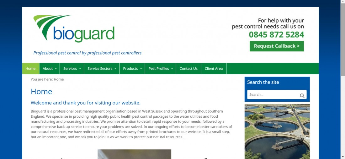 Bioguard - Pest Control Website