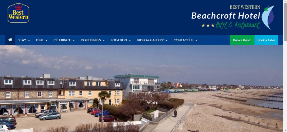 Best Western Beachcroft Hotel website